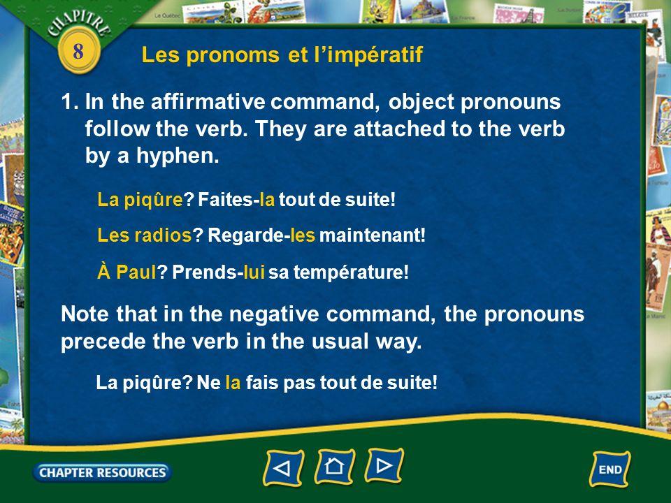 Les pronoms et l'impératif