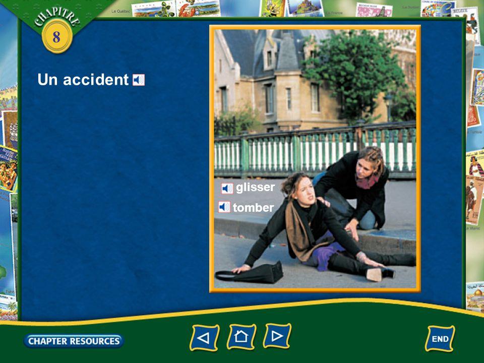 Un accident glisser tomber