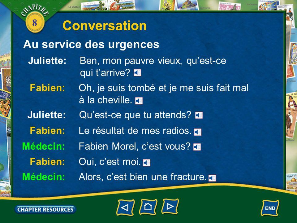 Conversation Conversation Au service des urgences