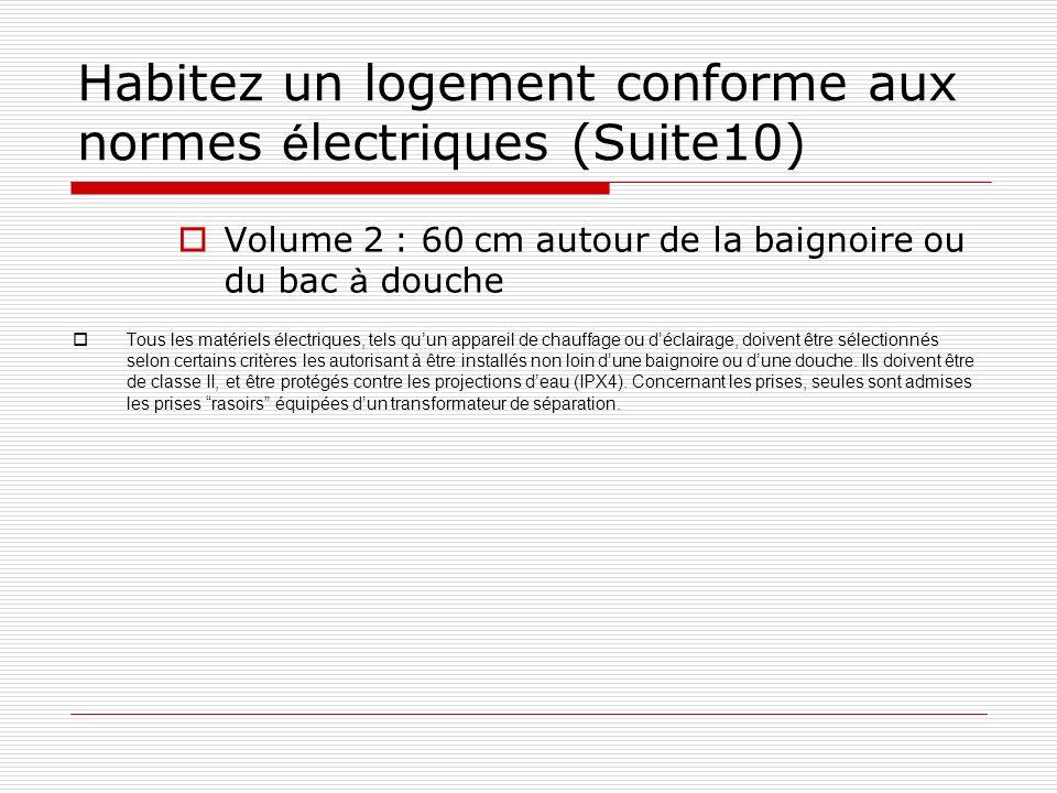 Habitez un logement conforme aux normes électriques (Suite10)