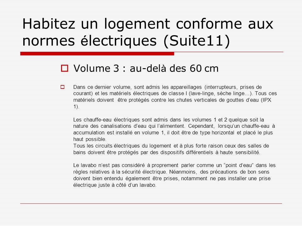 Habitez un logement conforme aux normes électriques (Suite11)