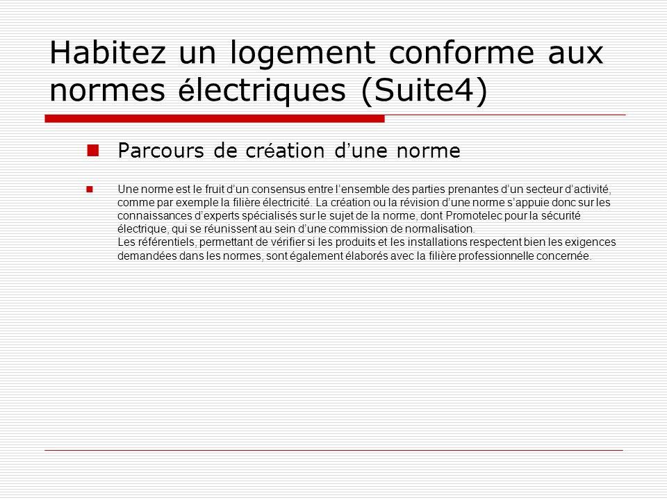Habitez un logement conforme aux normes électriques (Suite4)