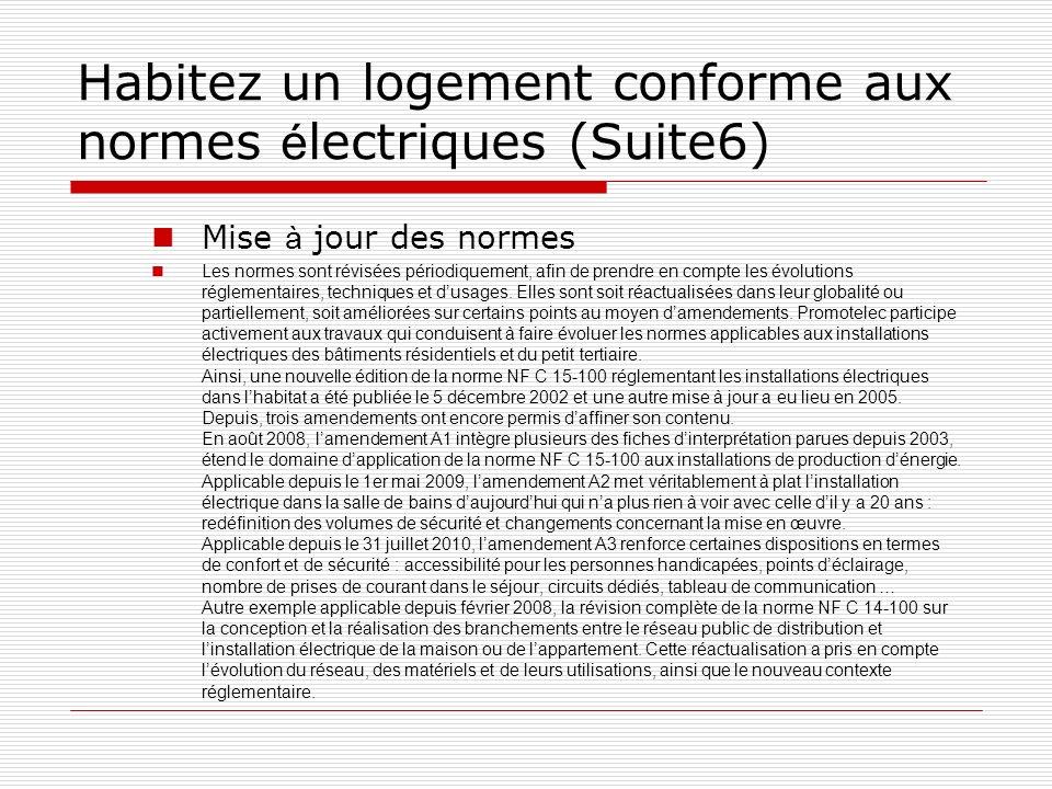 Habitez un logement conforme aux normes électriques (Suite6)