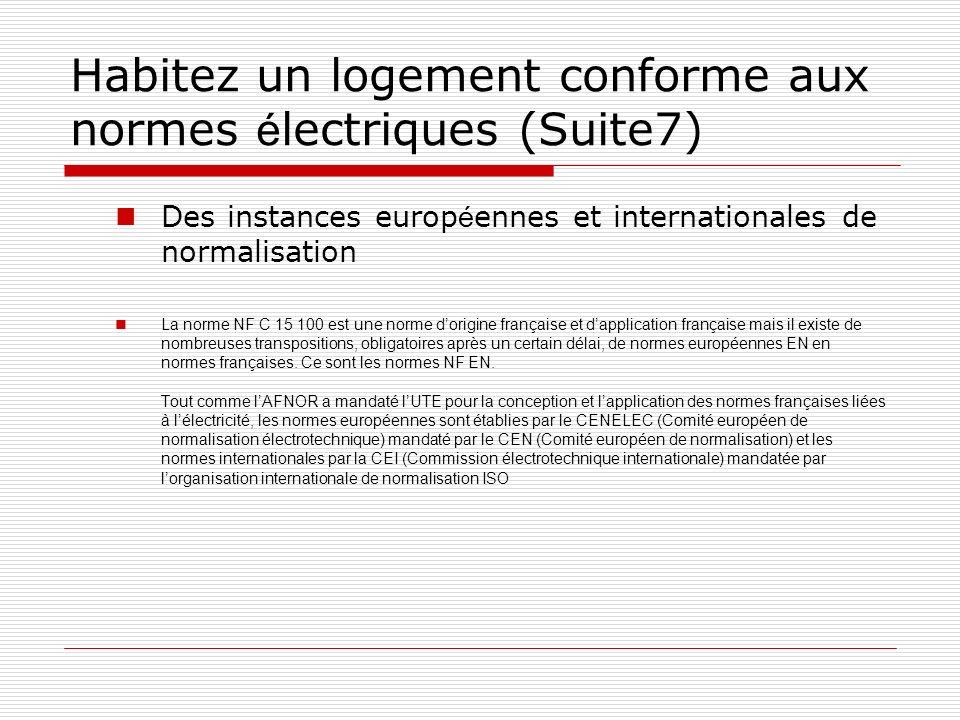 Habitez un logement conforme aux normes électriques (Suite7)