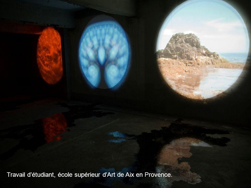 Travail d'étudiant, école supérieur d'Art de Aix en Provence.