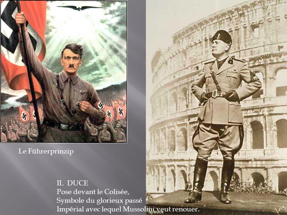 Le Führerprinzip IL DUCE. Pose devant le Colisée, Symbole du glorieux passé.