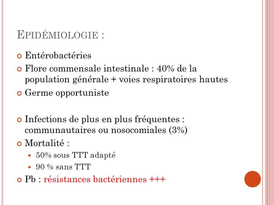 Epidémiologie : Entérobactéries