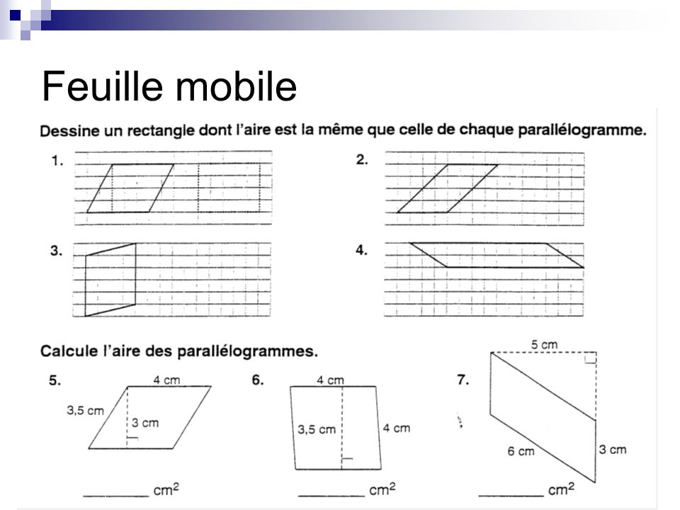 Feuille mobile