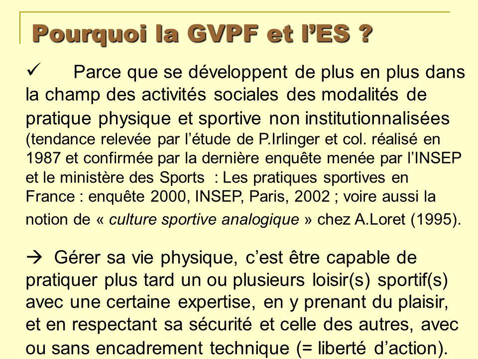 Pourquoi la GVPF et l'ES