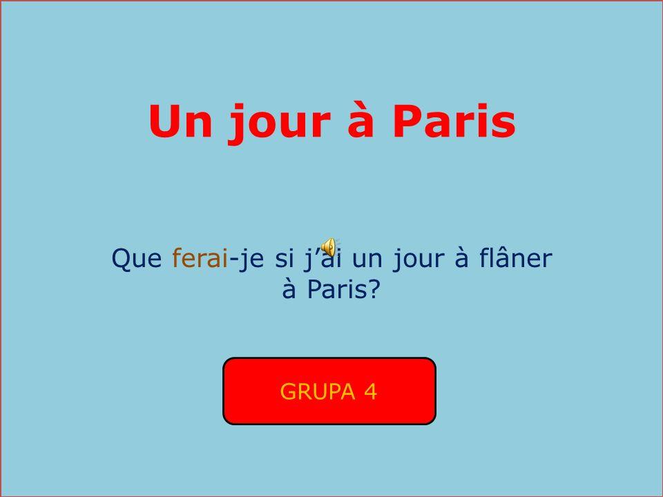 Que ferai-je si j'ai un jour à flâner à Paris