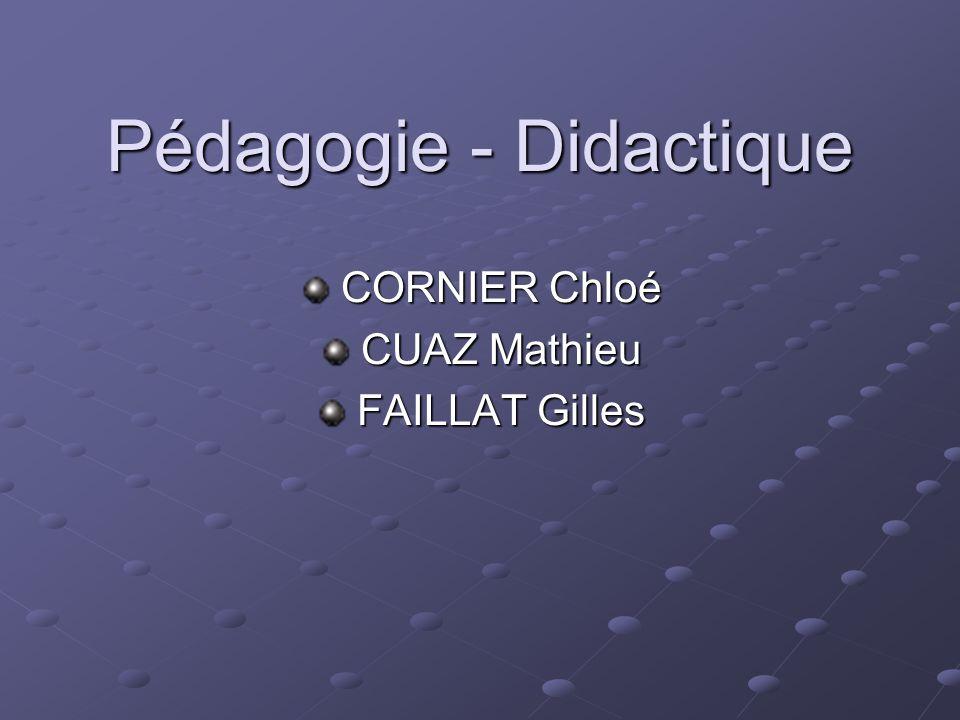 Pédagogie - Didactique