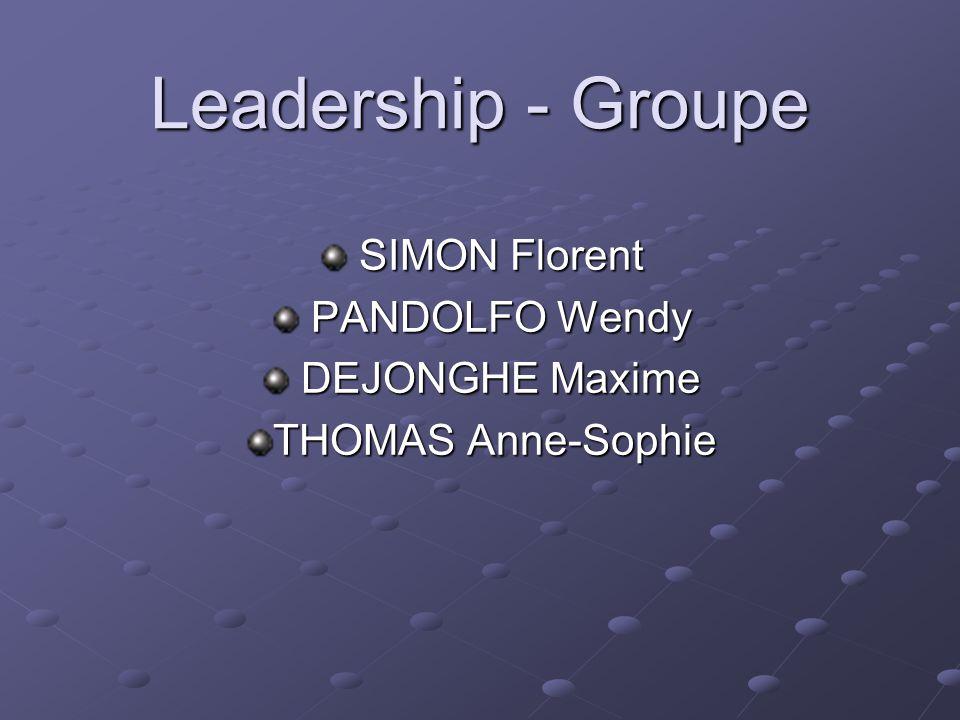 SIMON Florent PANDOLFO Wendy DEJONGHE Maxime THOMAS Anne-Sophie