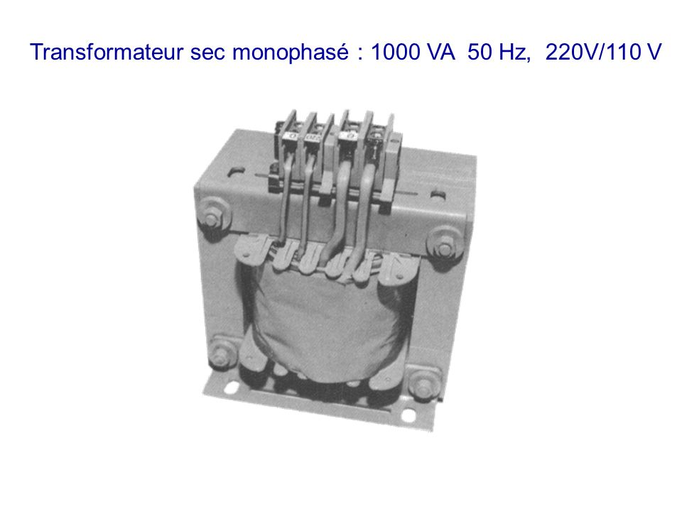 Transformateur sec monophasé : 1000 VA 50 Hz, 220V/110 V