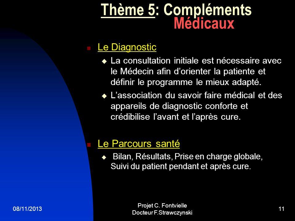 Thème 5: Compléments Médicaux