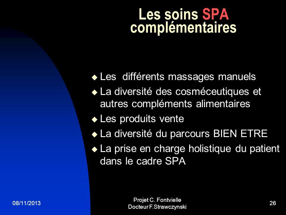 Les soins SPA complémentaires