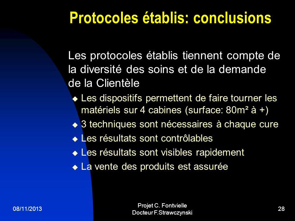 Protocoles établis: conclusions