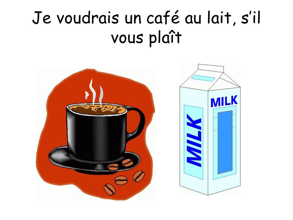 Je voudrais un café au lait, s'il vous plaît