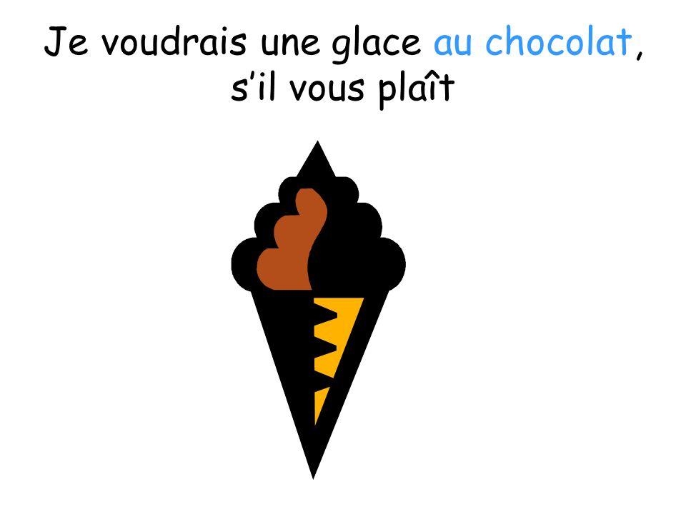Je voudrais une glace au chocolat, s'il vous plaît