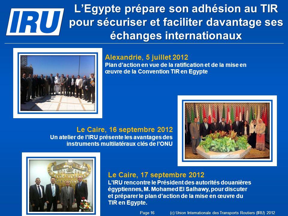 L'Egypte prépare son adhésion au TIR pour sécuriser et faciliter davantage ses échanges internationaux