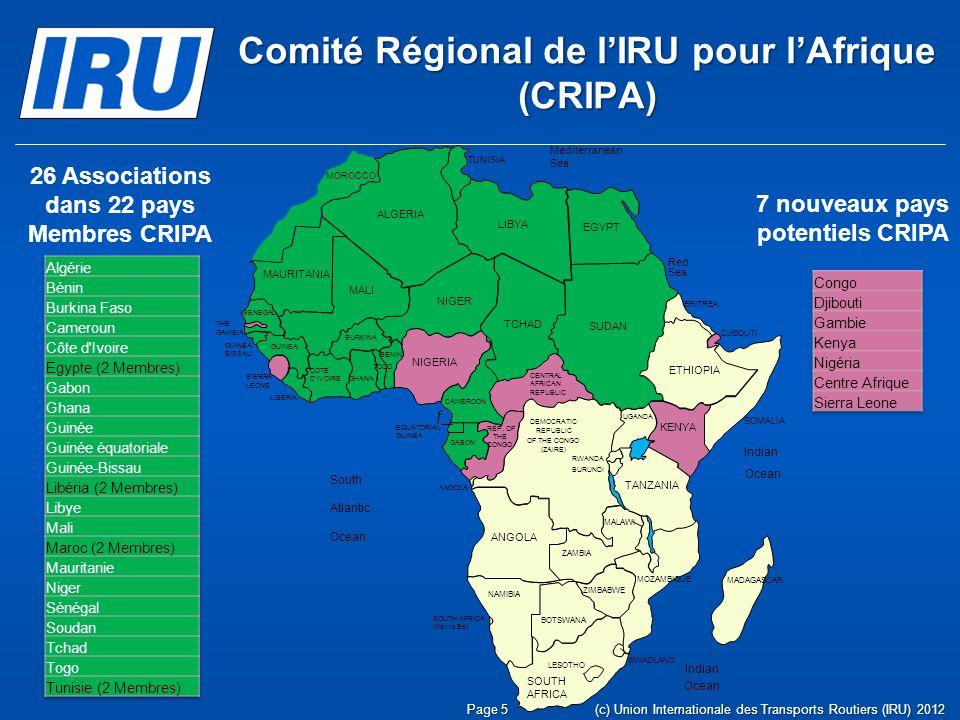 Comité Régional de l'IRU pour l'Afrique (CRIPA)