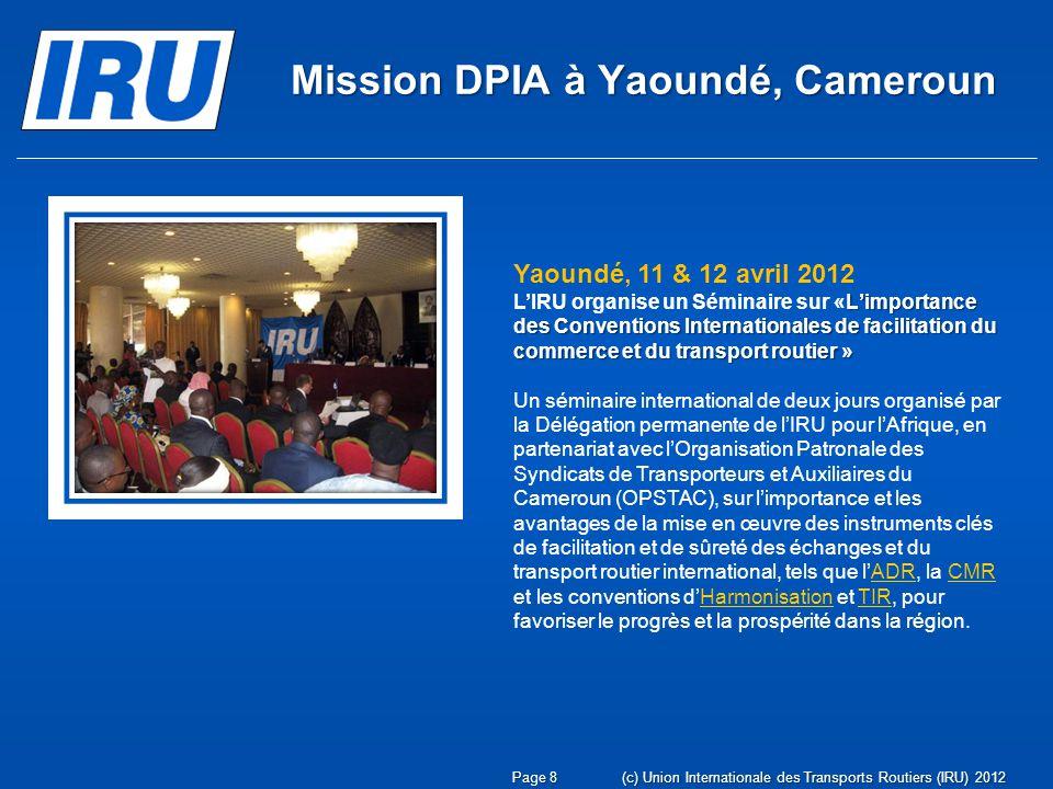 Mission DPIA à Yaoundé, Cameroun