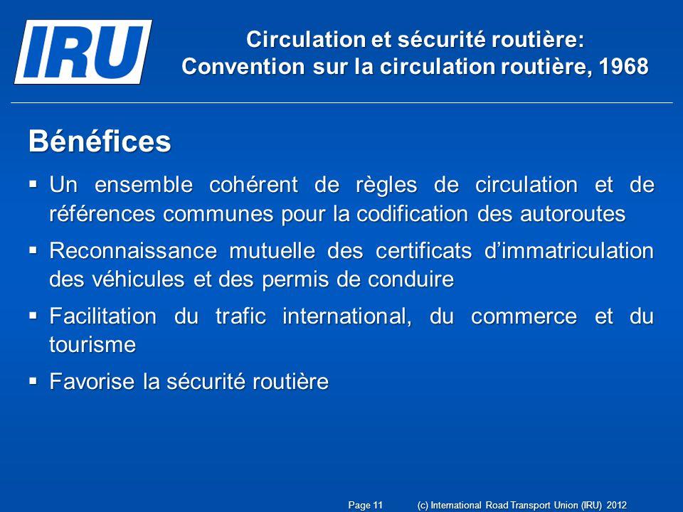 Circulation et sécurité routière: Convention sur la circulation routière, 1968