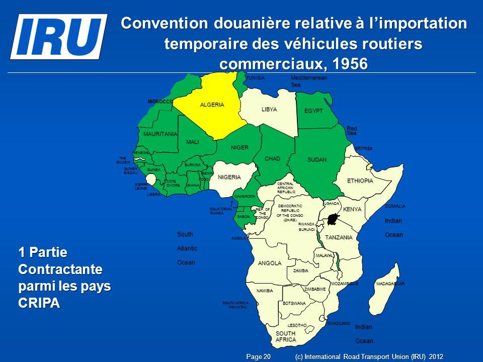 Convention douanière relative à l'importation temporaire des véhicules routiers commerciaux, 1956