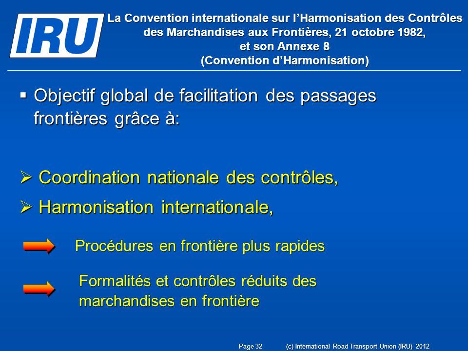 Objectif global de facilitation des passages frontières grâce à: