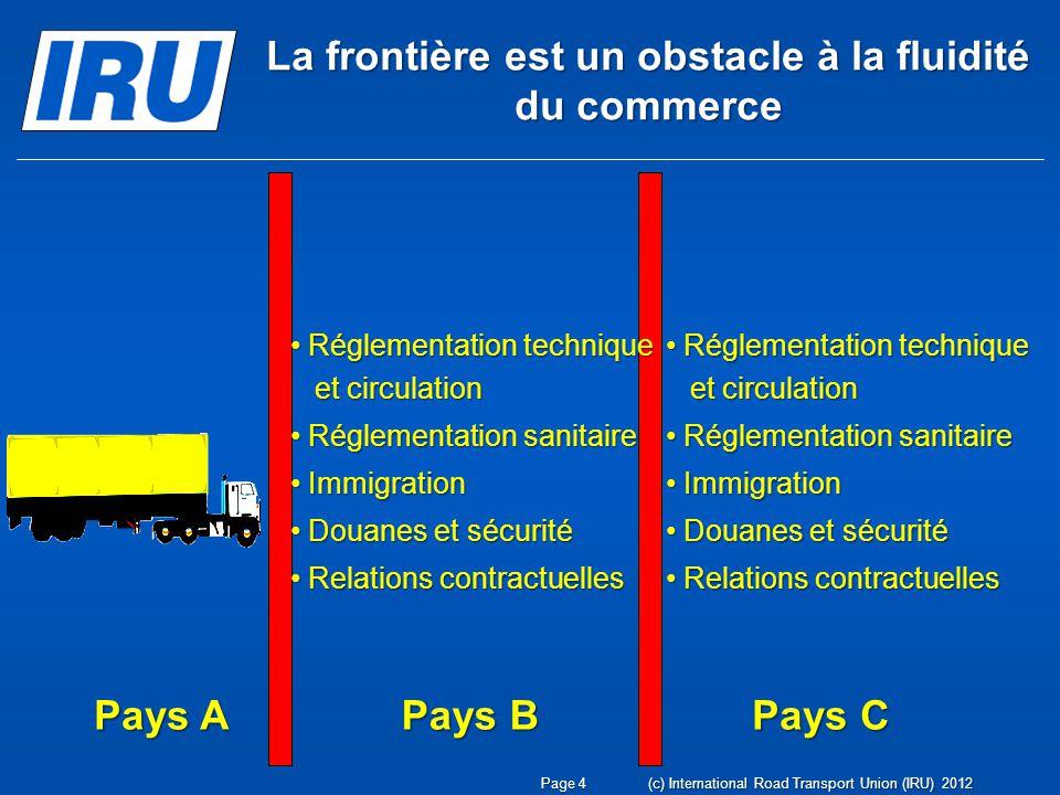 La frontière est un obstacle à la fluidité du commerce