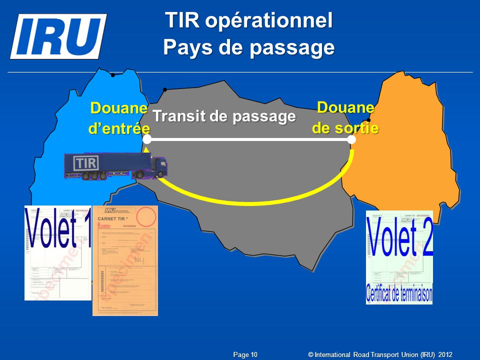 TIR opérationnel Pays de passage