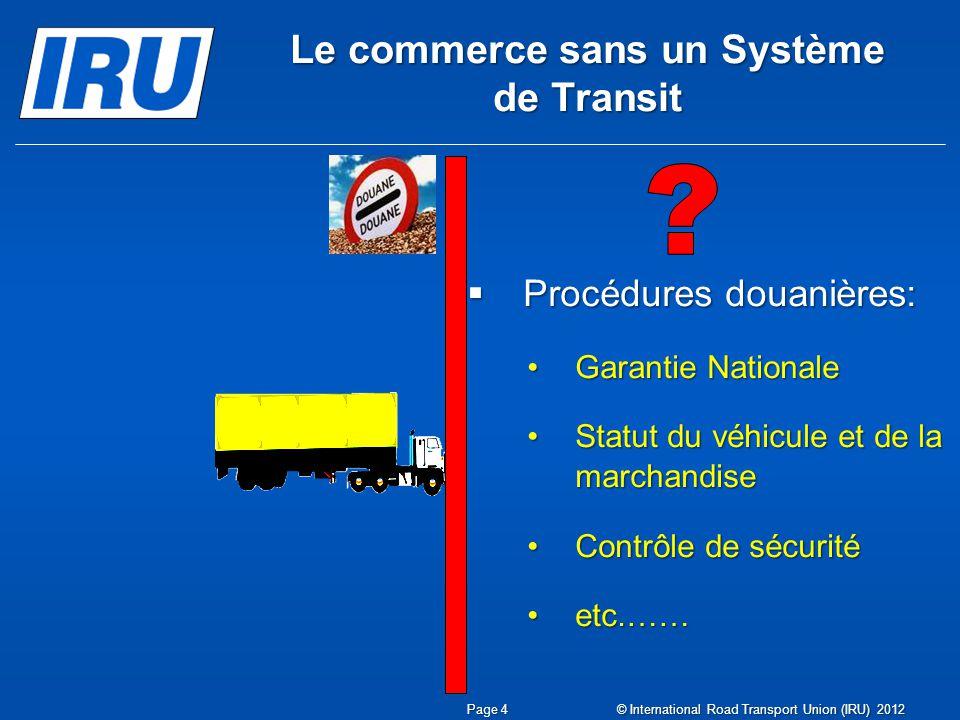 Le commerce sans un Système de Transit