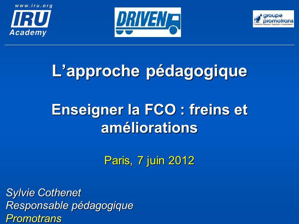 L'approche pédagogique Enseigner la FCO : freins et améliorations