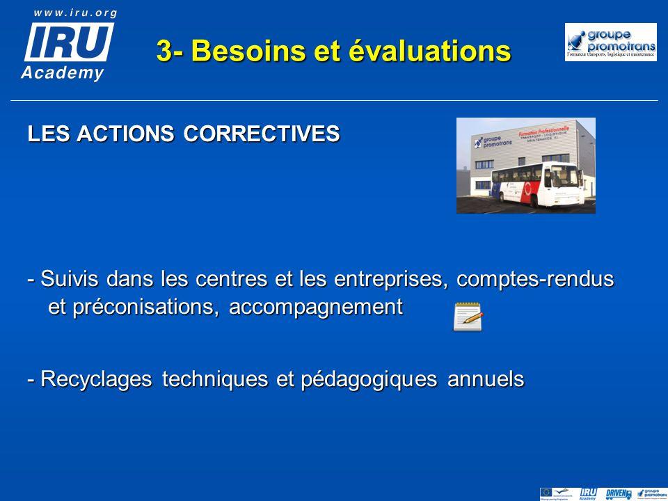 3- Besoins et évaluations