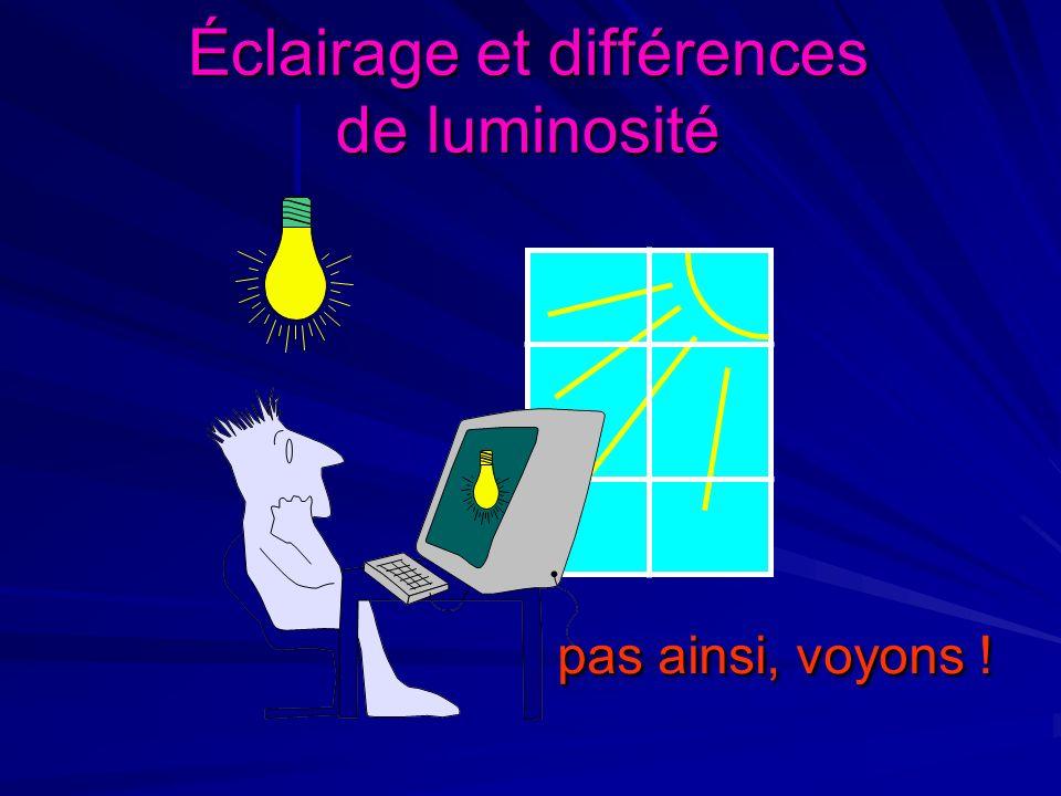 Éclairage et différences de luminosité