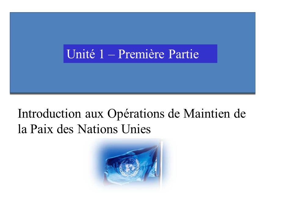 Unité 1 – Première Partie