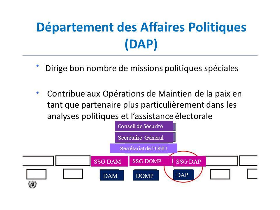 Département des Affaires Politiques (DAP)