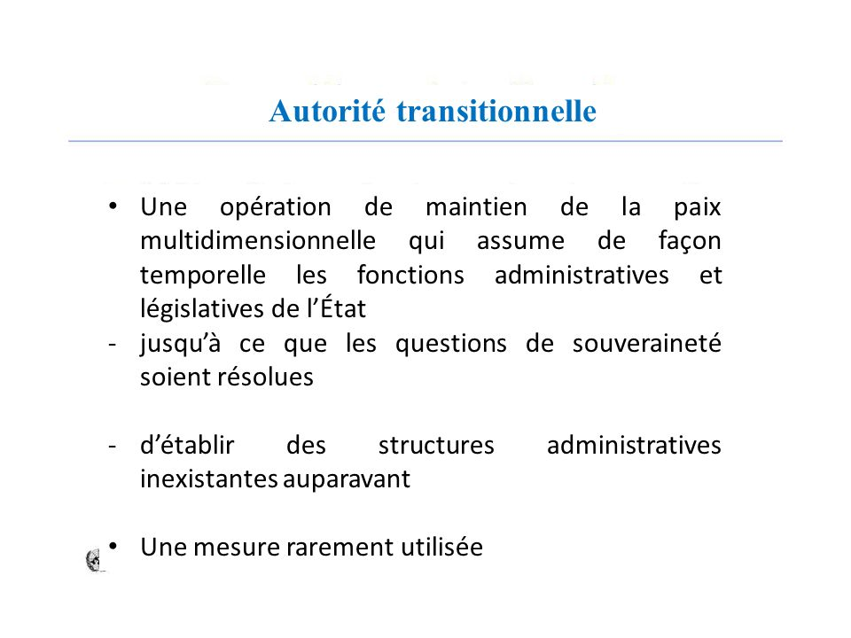 Autorité transitionnelle
