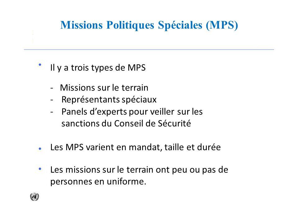 Missions Politiques Spéciales (MPS)