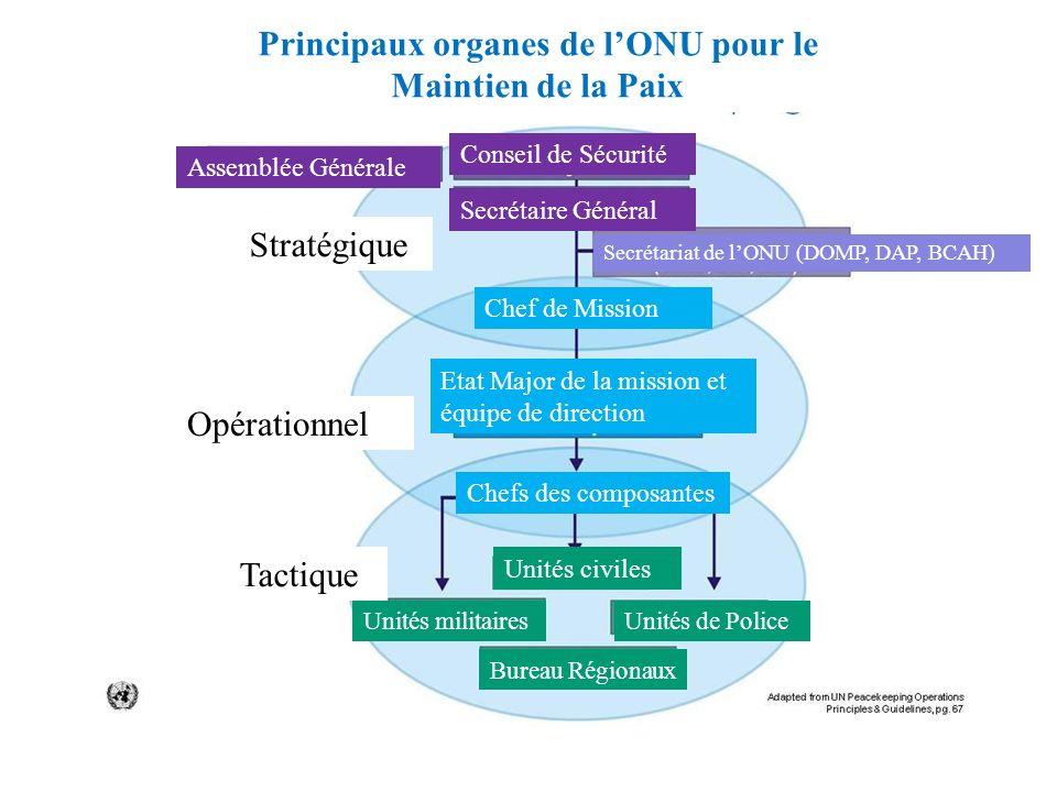Principaux organes de l'ONU pour le