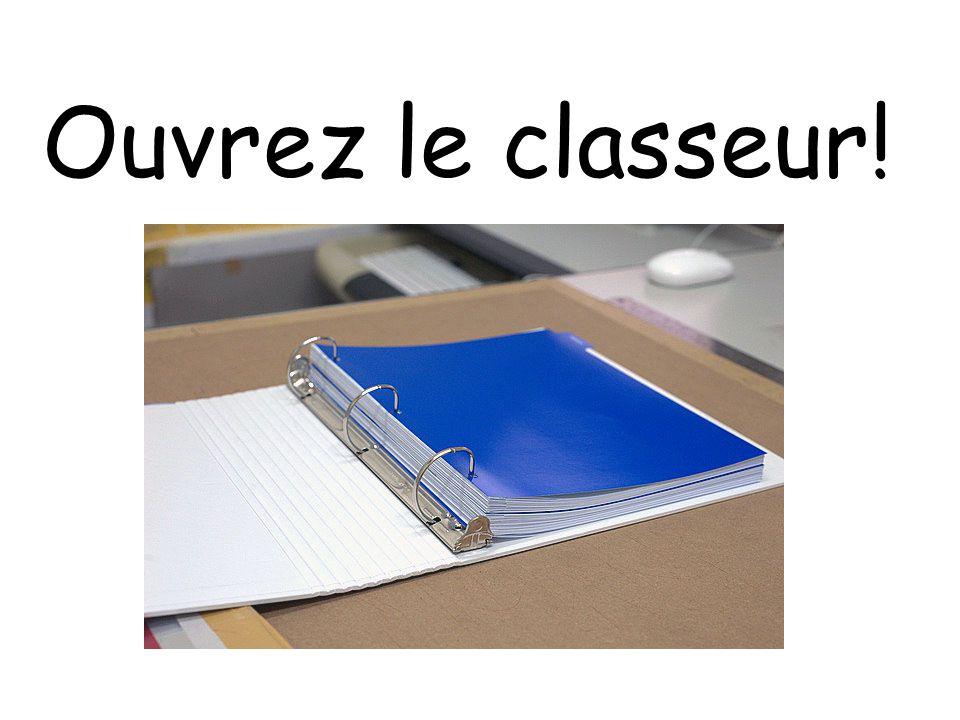 Ouvrez le classeur!