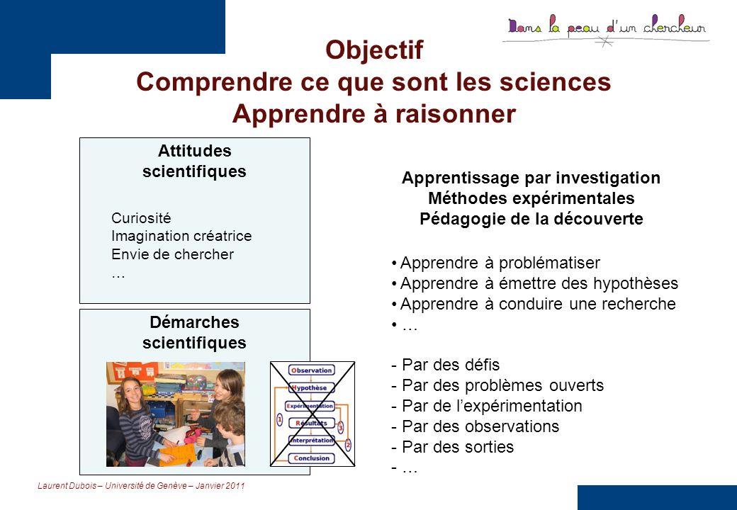 Objectif Comprendre ce que sont les sciences Apprendre à raisonner