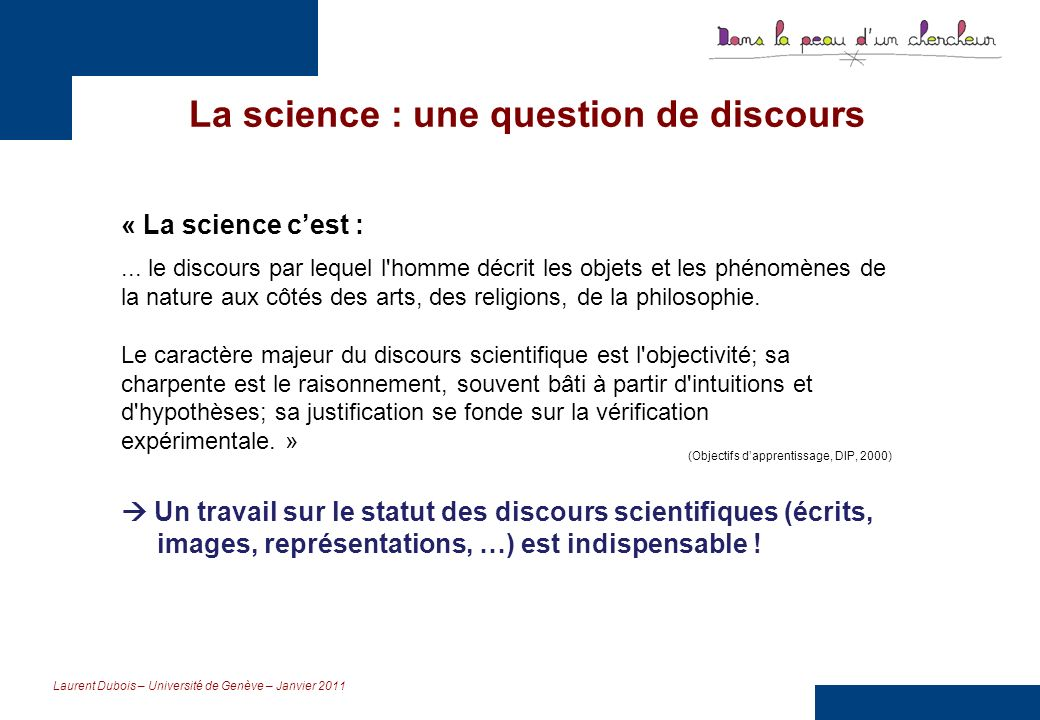 La science : une question de discours