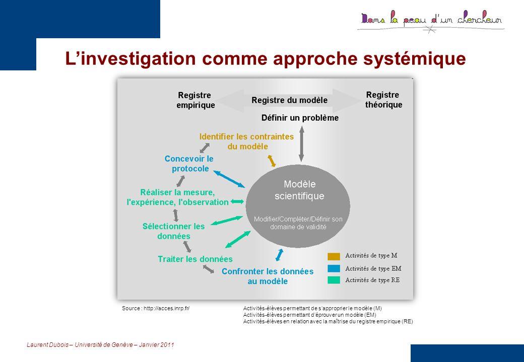 L'investigation comme approche systémique