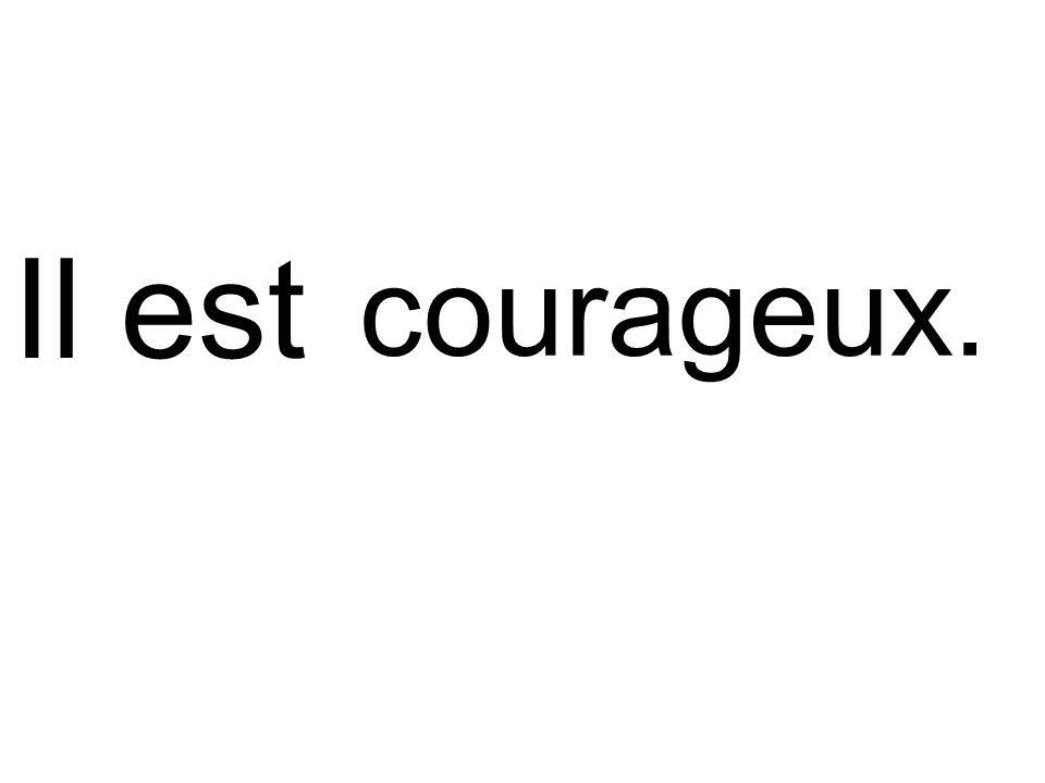 Il est courageux.