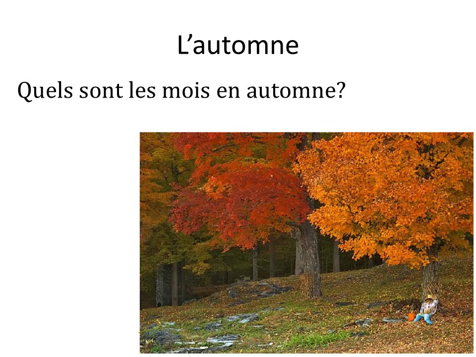 L'automne Quels sont les mois en automne