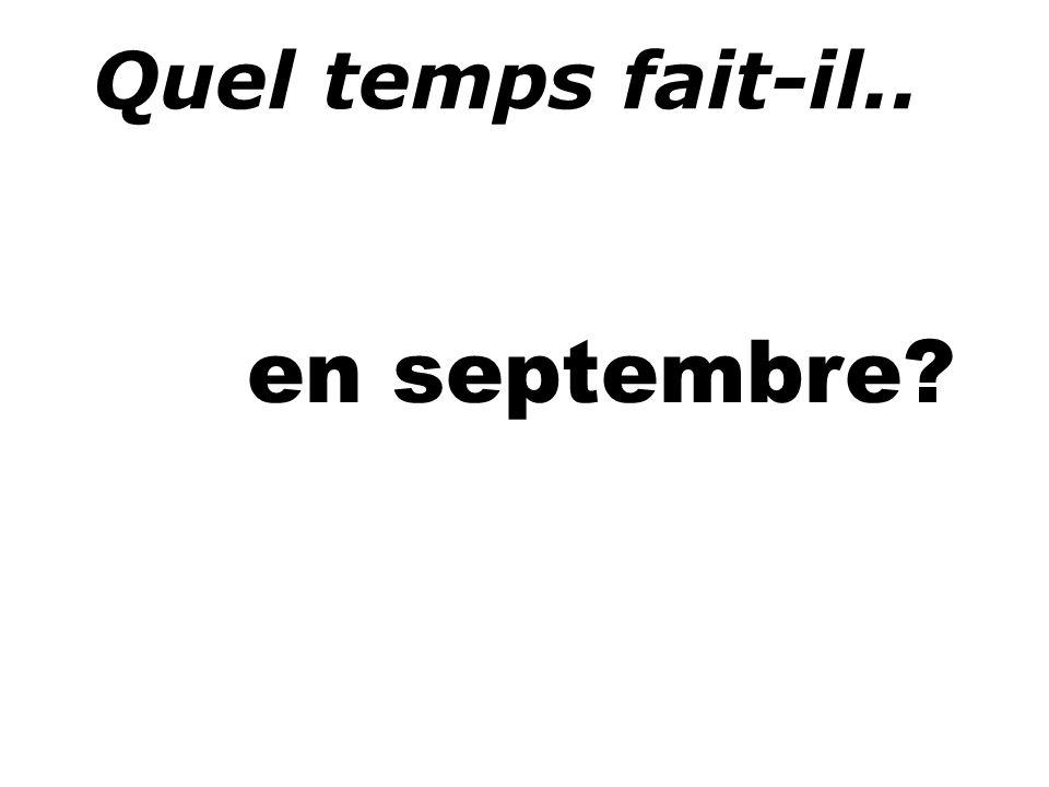 Quel temps fait-il.. en septembre