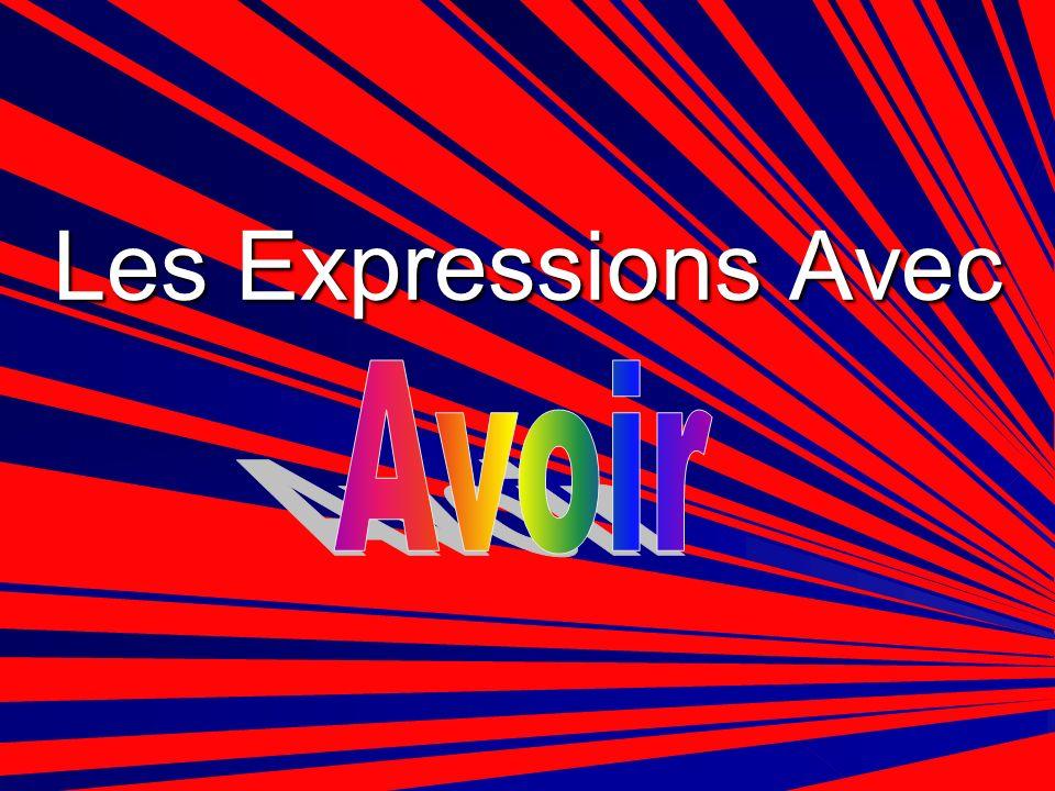 Les Expressions Avec Avoir