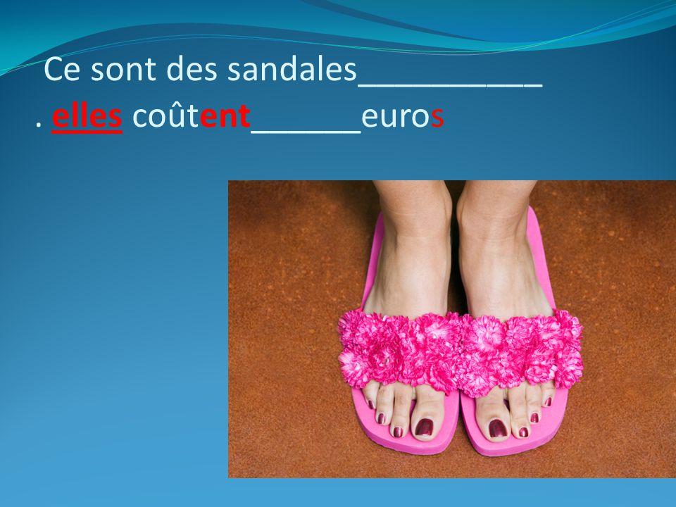 Ce sont des sandales__________ . elles coûtent______euros