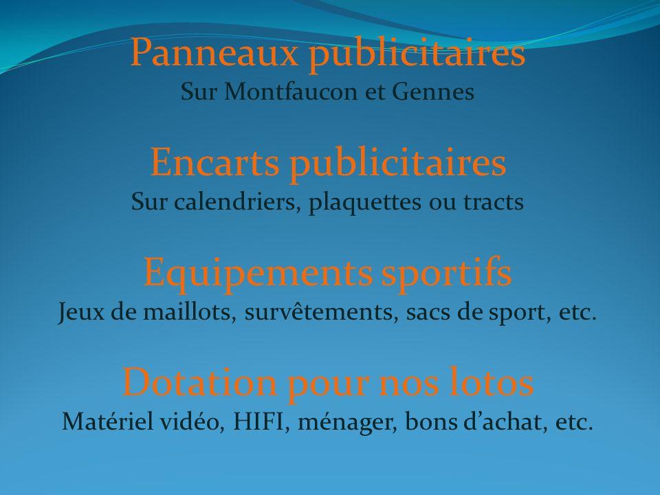 Panneaux publicitaires Encarts publicitaires Equipements sportifs
