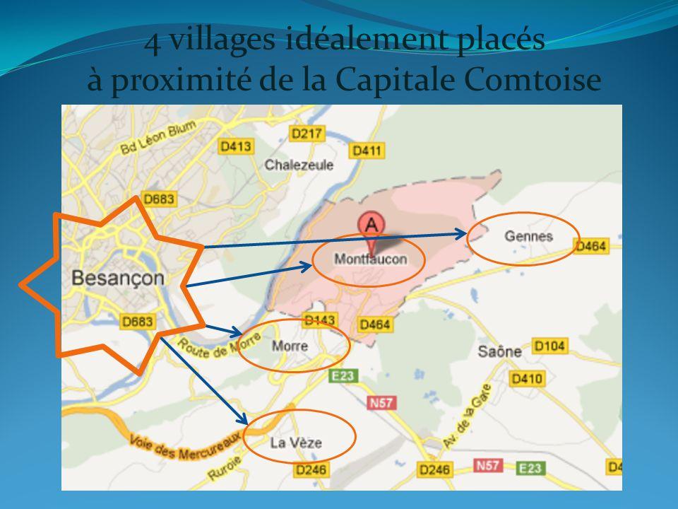4 villages idéalement placés à proximité de la Capitale Comtoise